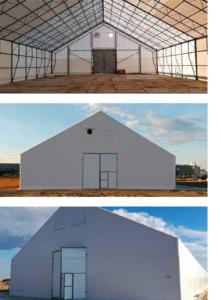 тентовое зернохранилище