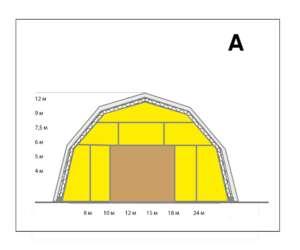 тентовый ангар полигональный