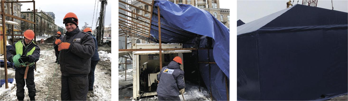 строительство тентового шатра