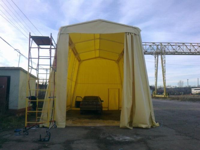 Тентовый гараж для грузового авто