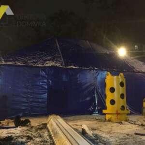 тент шатер строительный