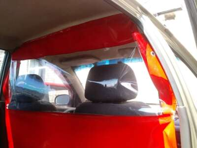 защитная перегородка в такси